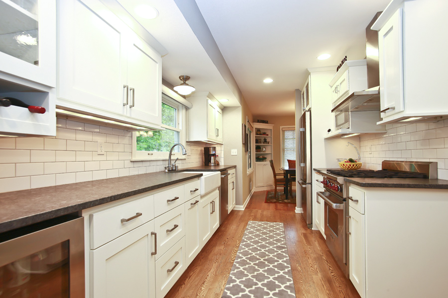 Galley Kitchen Remodel Badger Carpentry Inc
